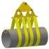 Траверси для укладання труб з текстильним рушником