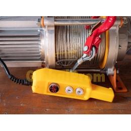 Лебедка электрическая KCD 750/1500 с тросом 60 м